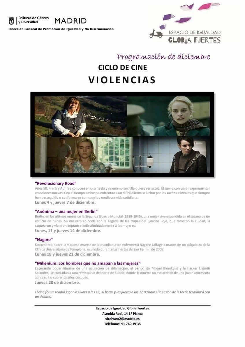 Proyección de NAGORE en el Ciclo de cine Violencias