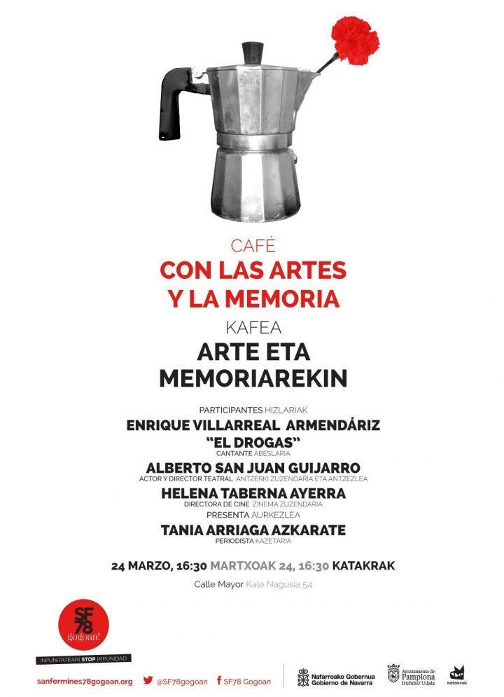 Helena Taberna en la tertulia Café con las artes y la memoria