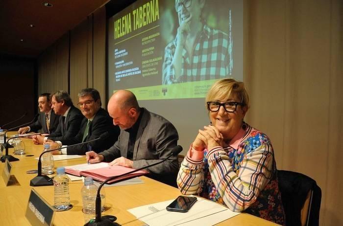 Inauguración de la retrospectiva de Helena Taberna en el Museo de las Bellas Artes de Bilbao