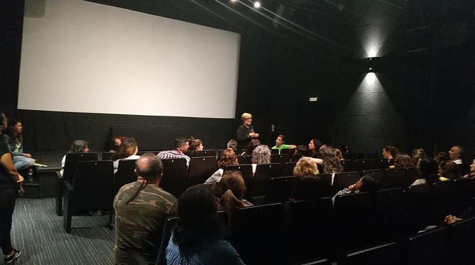 Helena Taberna presenta Nagore en la sala de cine de El Almacén en Lanzarote