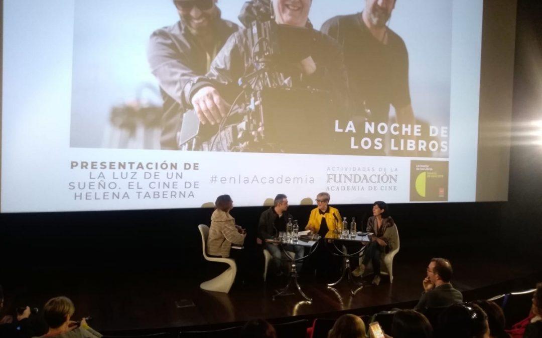 Helena Taberna en la Academia de Cine la Noche de los Libros
