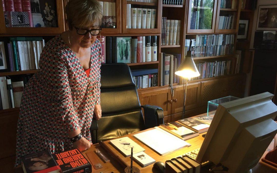 Helena Taberna visita la casa museo de Saramago en Lanzarote